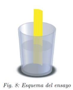 Esquema del ensayu del test del agua