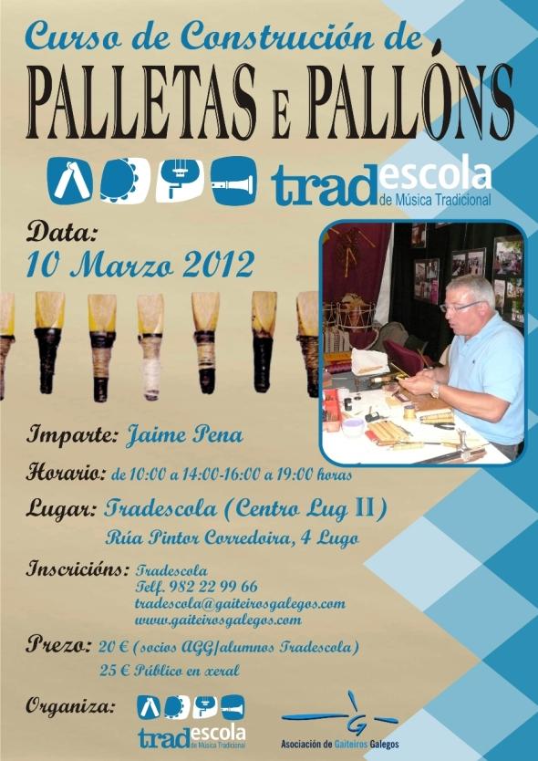 Cartelu del cursu de palletas e pallóns, 10 de Marzu, Lugo